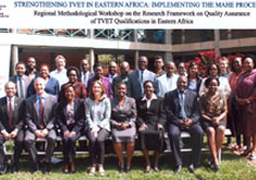 "A Regional Methodological workshop on ""Research Framework on Quality Assurance of TVET Qualifications on Eastern Africa"""